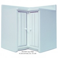 § Disc $3 Off - Mordern Coner Cabinet - White - Product Image
