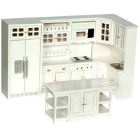 Dollhouse White Modern Kitchen - Product Image