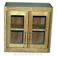 Disc $2 Off - Large Glass Front Upper Cabinet - Product Image