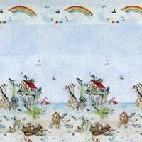 § Sale $3 Off - 3 Shts Noah's Ark Paper - Product Image