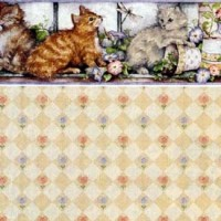 § Sale 50% Off - 3 Shts Purrfect Kitties Paper - Product Image