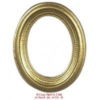 § Sale .60¢ Off - Oval Goldtone Picture Frame - Product Image