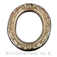 () Disc. .30¢ Off - Small Gold Oval Frame - Product Image