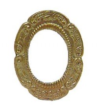 Dollhouse Small Gold Oval Frame - Product Image