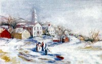 § Sale .70¢ Off - Winter Wonderland Mural - Product Image