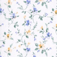 § Disc $3 Off - 3 Shts Blue & Yellow Floral Wallpaper - Product Image