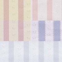 § Disc $3 Off - 3 Shts Embossed Rose Stripe - Product Image