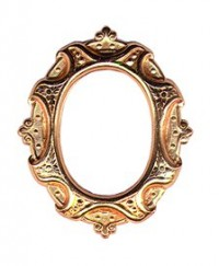 Dollhouse Gold Oval Large Frame - Product Image