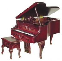 Louis XV Grand Piano with Stool - Product Image