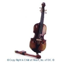 Disc. $3 Off - Violin with Bow by Heidi Ott - Product Image