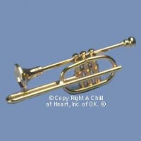 § Disc .50¢ Off - Dollhouse Brass Trombone - Product Image