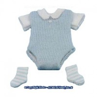 Dollhouse Baby Outfit with Socks - Product Image