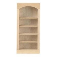 Dollhouse Unfinished Bookcase with Open Shelves - Product Image