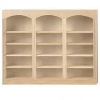 Dollhouse Unfinished Triple Bookcase - Product Image