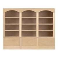 Dollhouse Unfinished Triple Unit Bookcase - Product Image