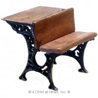 (*) Single Student Desk - Metal Legs - Product Image