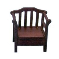 Dollhouse Garden Seat - Walnut - Product Image