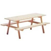 Disc $4 Off - Dollhouse Unfinished Picnic Table - Product Image