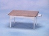 Dollhouse White & Oak Table with Drawer - Product Image