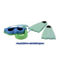 Dollhouse Swim Fins & Mask Set - Product Image