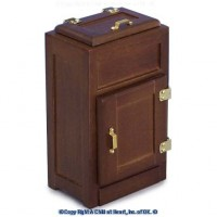 Dollhouse Top Loading Walnut Ice Box - Product Image
