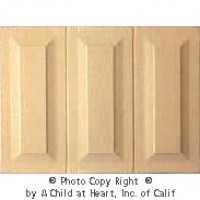 § Sale .60¢ Off - 1 pc Wainscot Panels - (3) Raised Panels - Product Image