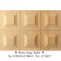 Dollhouse Wainscot Panels - (6) Raised Panels - Product Image