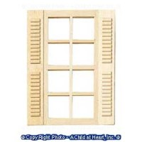 § Sale $2 Off - 8 Light Windows with Shutters - Product Image