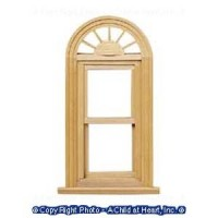 (**) Dollhouse Palladian Working Window - Product Image
