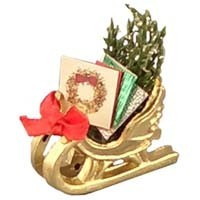 § Sale .50¢ Off - Dollhouse Christmas Card Sleigh - Product Image