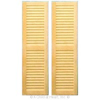 (**) 2 pc - Louvered Shutters - Large - Product Image