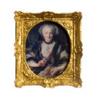 Dollhouse Oil Painting - Colonial Lady - Product Image