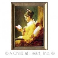 () Sale $1 Off - A Young Girl Reading Portrait - Product Image