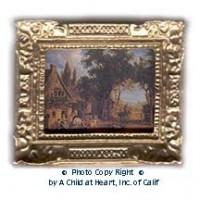 § Sale .60¢ Off - Dollhouse Farmland Scene Picture - Product Image