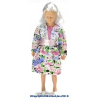 (*) Vinyl DollHouse Doll - Grandmother - Product Image