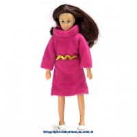 Sale $3 Off - Vinyl DollHouse Doll - Mom Brunette - Product Image