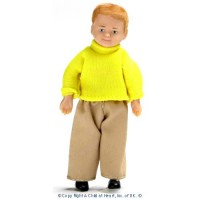 Vinyl DollHouse Doll - Modern Blonde Boy - Product Image