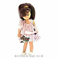 Sale $3 Off - Vinyl Doll - Modern Brunette Girl - Product Image