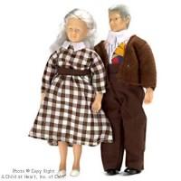 Sale $6 Off - Dollhouse Vinyl Grandparent Dolls - Product Image
