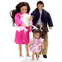 Sale $10 Off - Modern Doll Family - Brunette - Product Image