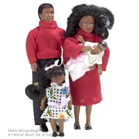 Dollhouse Modern Doll Family - African American - Product Image