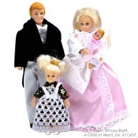 Sale $10 Off - Victorian Doll Family - Blonde - Product Image