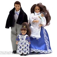 Sale $10 Off - Victorian Doll Family - Brunette - Product Image
