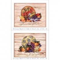 (**) Kitchen Print - Assorted Fruit Plaques - Product Image