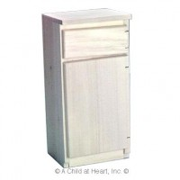 Disc $2 Off - Unfinished Dollhouse Refrigerator - Product Image