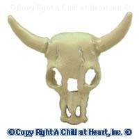 Dollhouse Metal Steer's Skull - Product Image