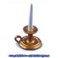 (*) Dollhouse Candle Holder with Candle - Product Image