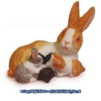 Dollhouse Assorted Rabbit & Babies - Product Image