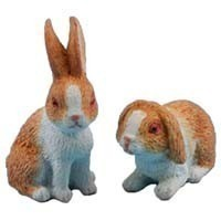 Dollhouse 2 Assorted Rabbits - Product Image