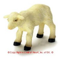 Miniature Dollhouse Young Sheep - Product Image